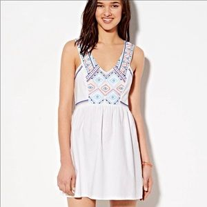 American Eagle Outfitters White Embroidered Dress